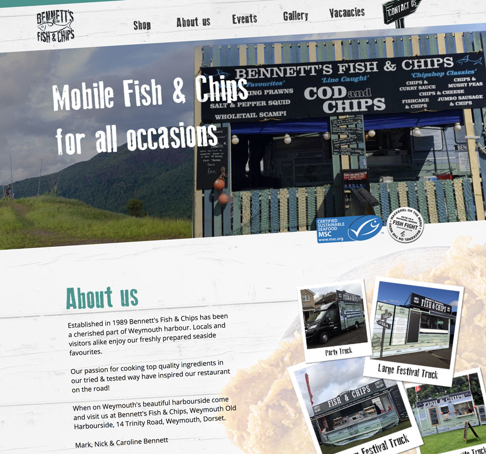Bennett's Fish & Chips website launched!